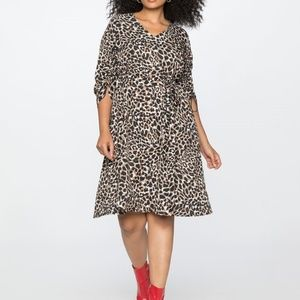 Eloquii Cinched Sleeve Soft Dress Brand New